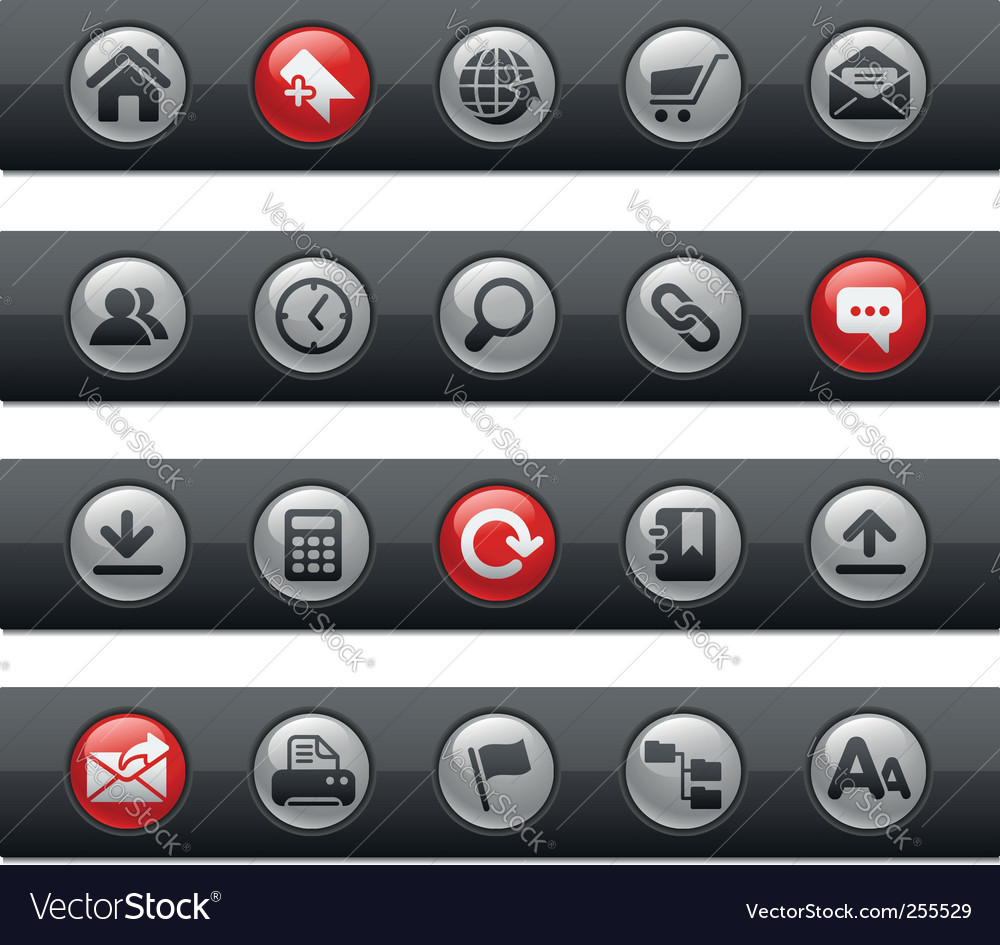 Web site and internet bars vector | Price: 1 Credit (USD $1)