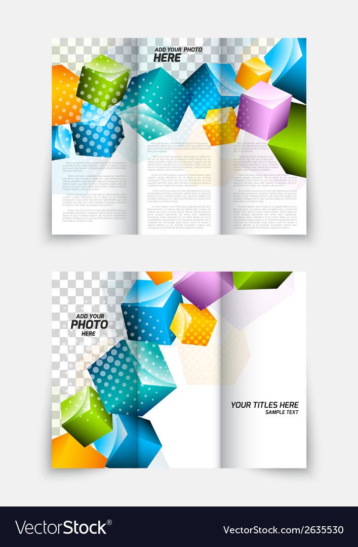 3d cubes brochure design vector | Price: 1 Credit (USD $1)