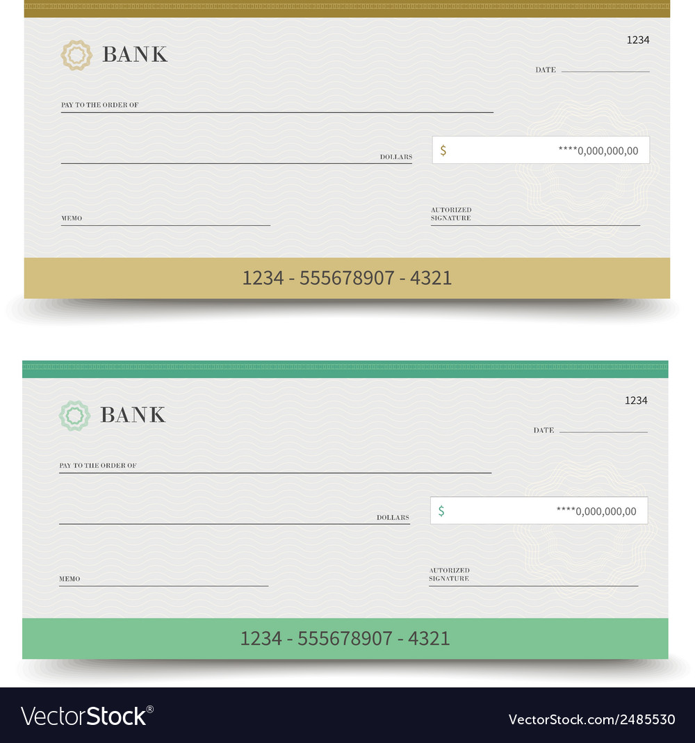 Bank check isolated vector | Price: 1 Credit (USD $1)