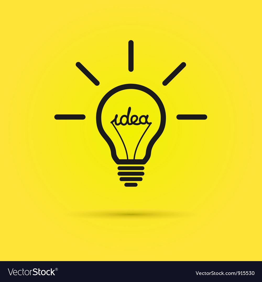 Creative bulb vector | Price: 1 Credit (USD $1)