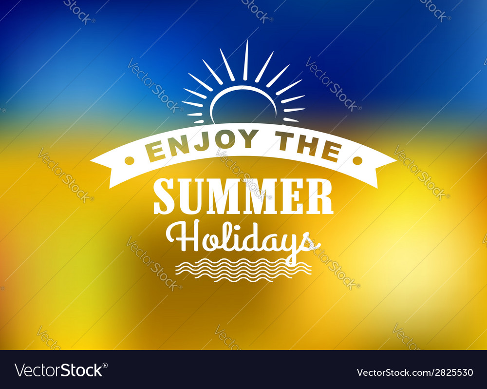 Enjoy summer holidays poster vector | Price: 1 Credit (USD $1)