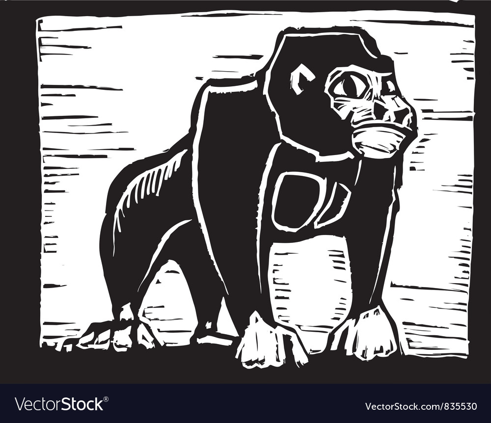 Gorilla print vector | Price: 1 Credit (USD $1)