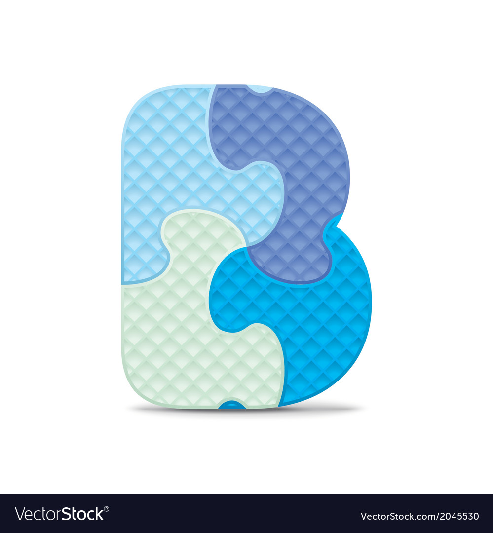 Letter b written with alphabet puzzle vector | Price: 1 Credit (USD $1)