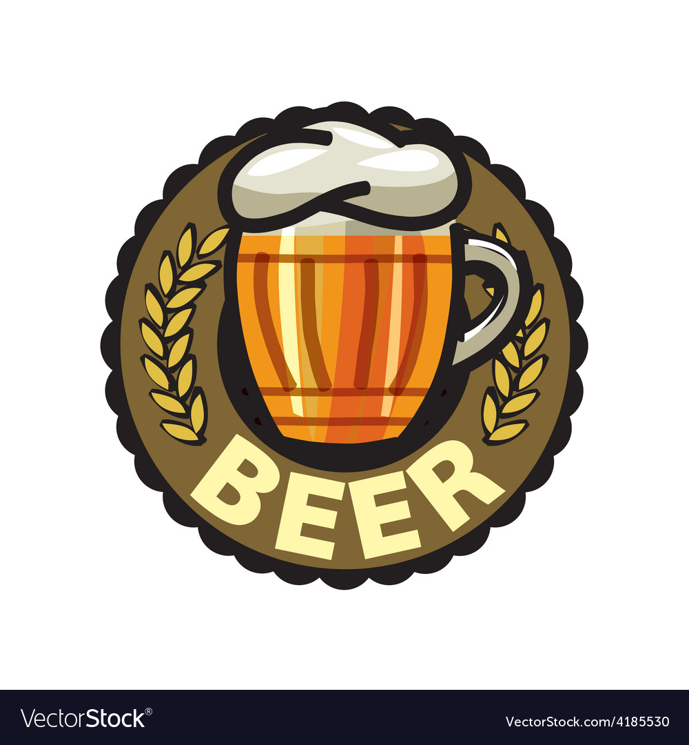 Logo beer in a glass mug vector | Price: 1 Credit (USD $1)