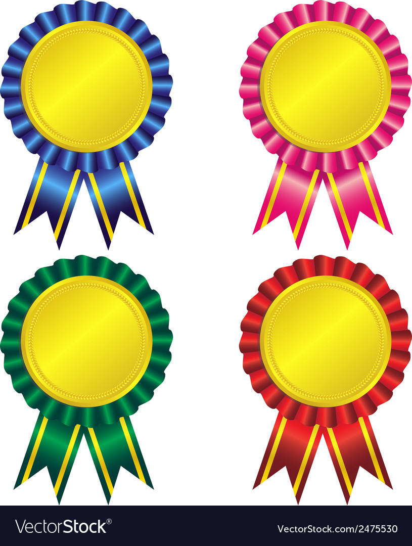 Set of award ribbon vector | Price: 1 Credit (USD $1)