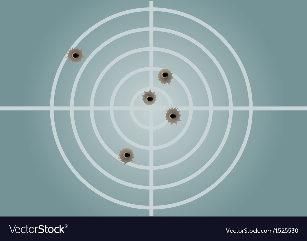 Target and bullet holes vector | Price: 1 Credit (USD $1)