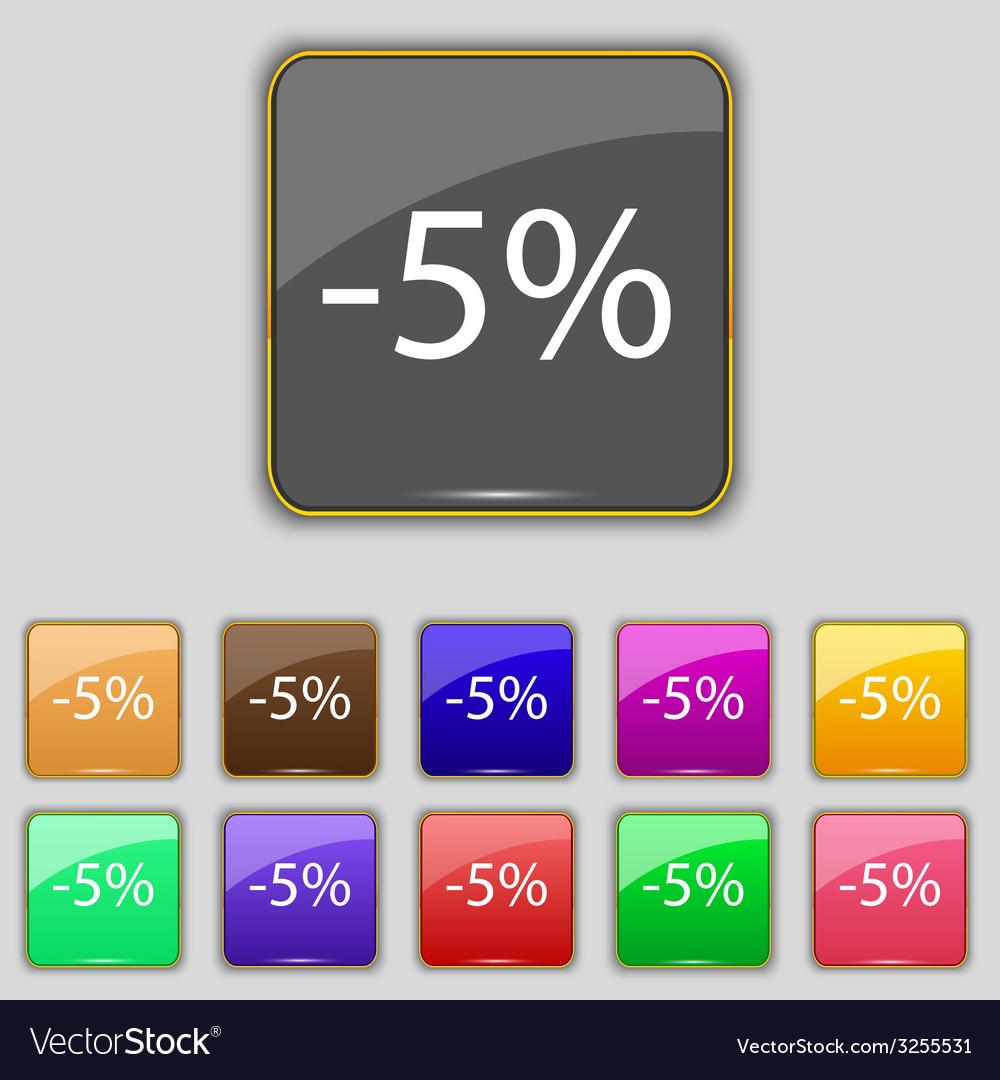5 percent discount sign icon sale symbol special vector   Price: 1 Credit (USD $1)