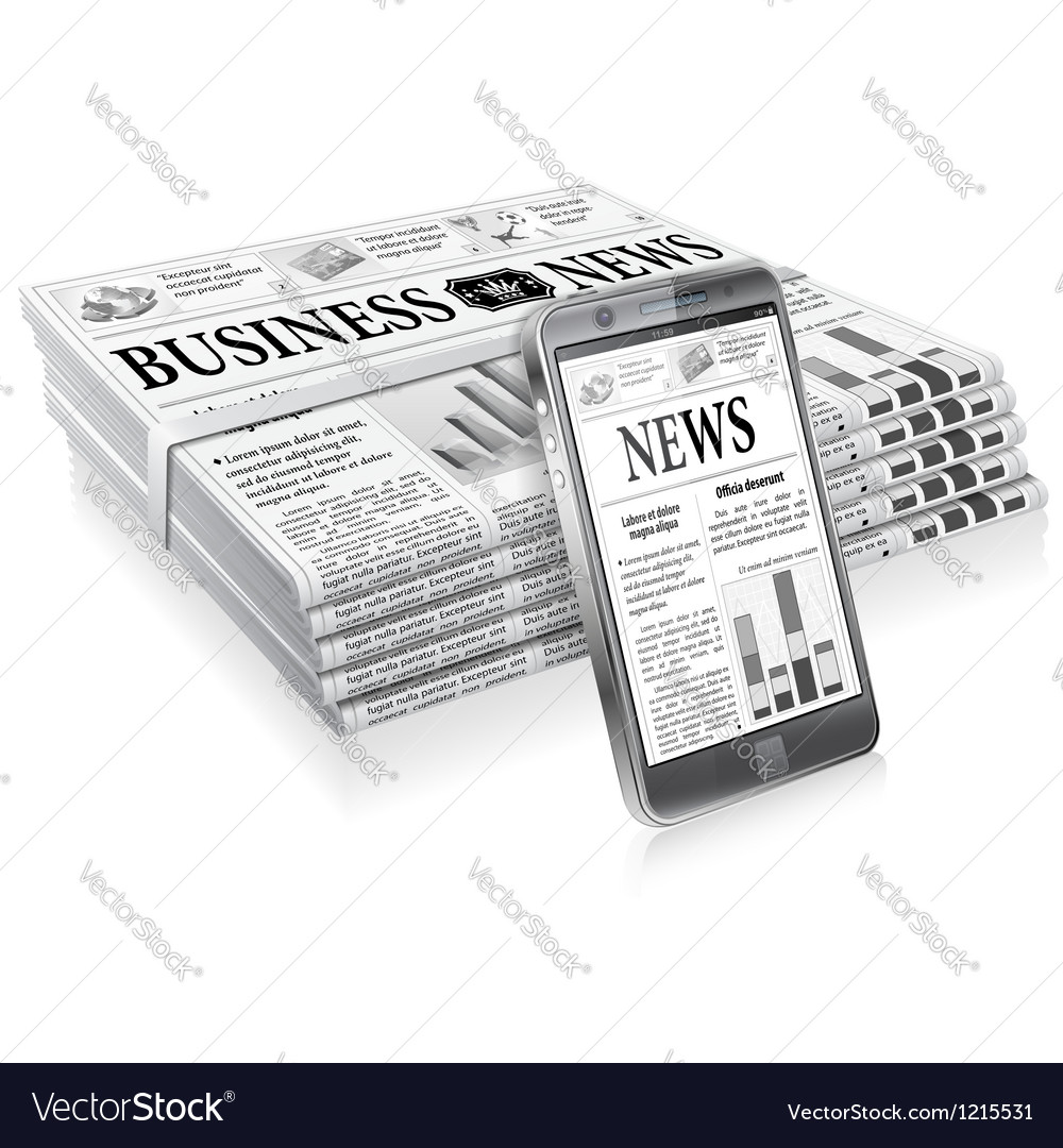 Concept - digital news vector | Price: 1 Credit (USD $1)