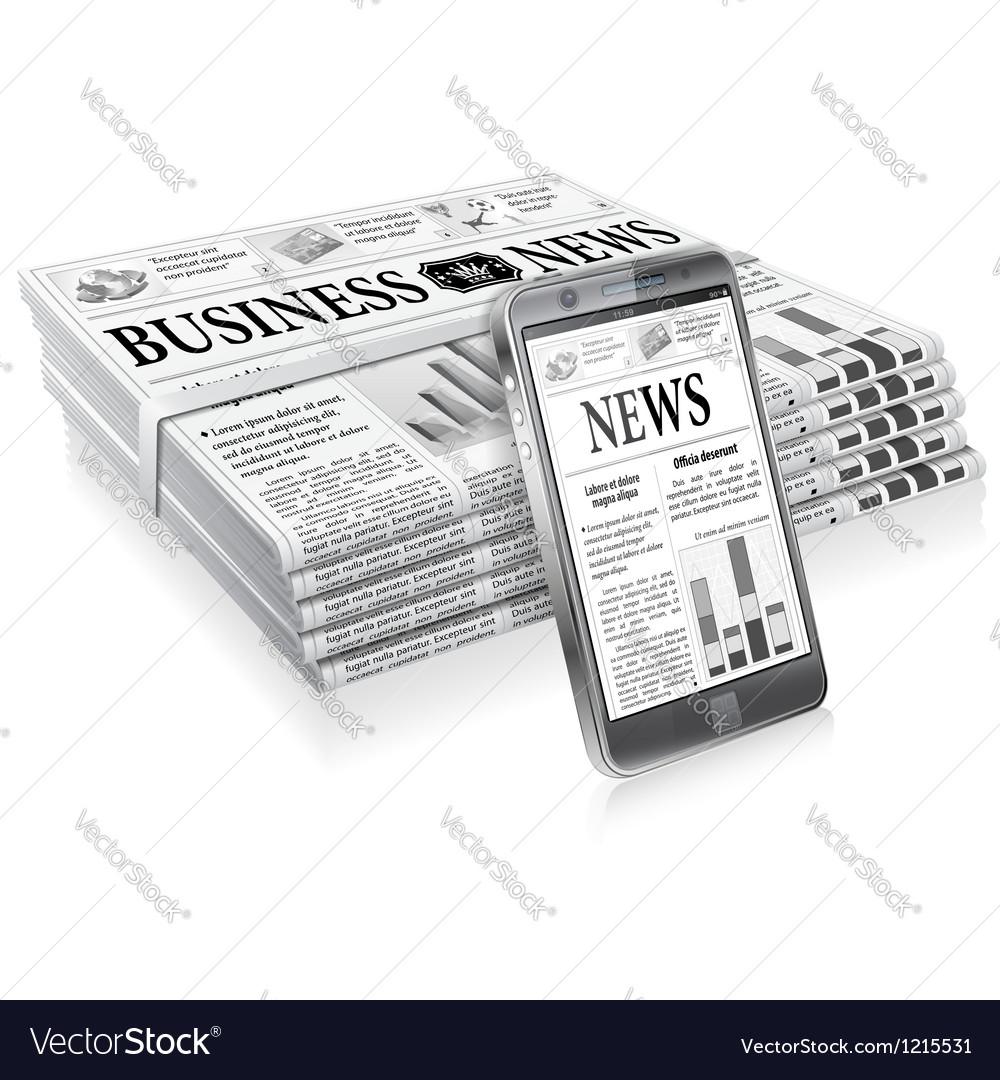 Concept - digital news vector | Price: 1 Credit (USD $1)