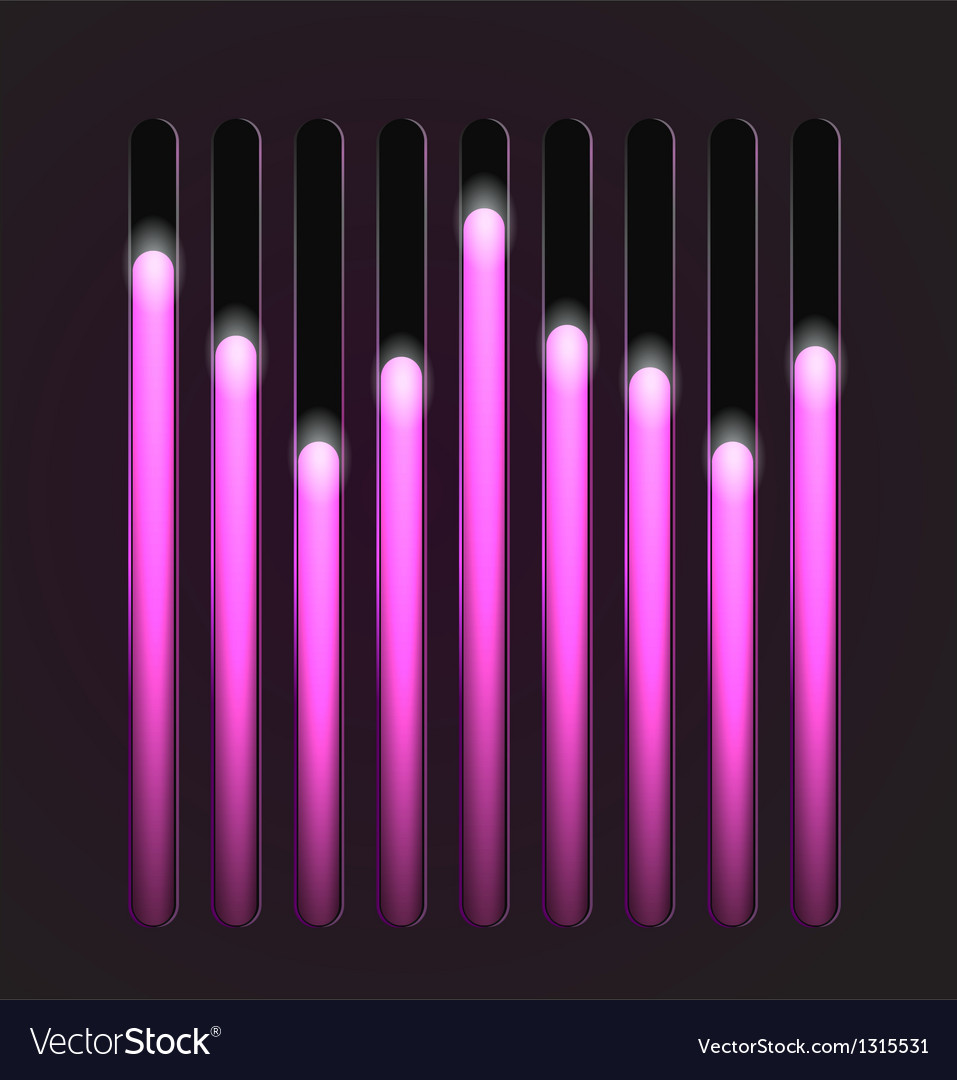 Equalizer glossy glowing track bar vector   Price: 1 Credit (USD $1)