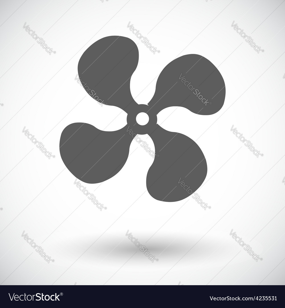 Fan single icon vector