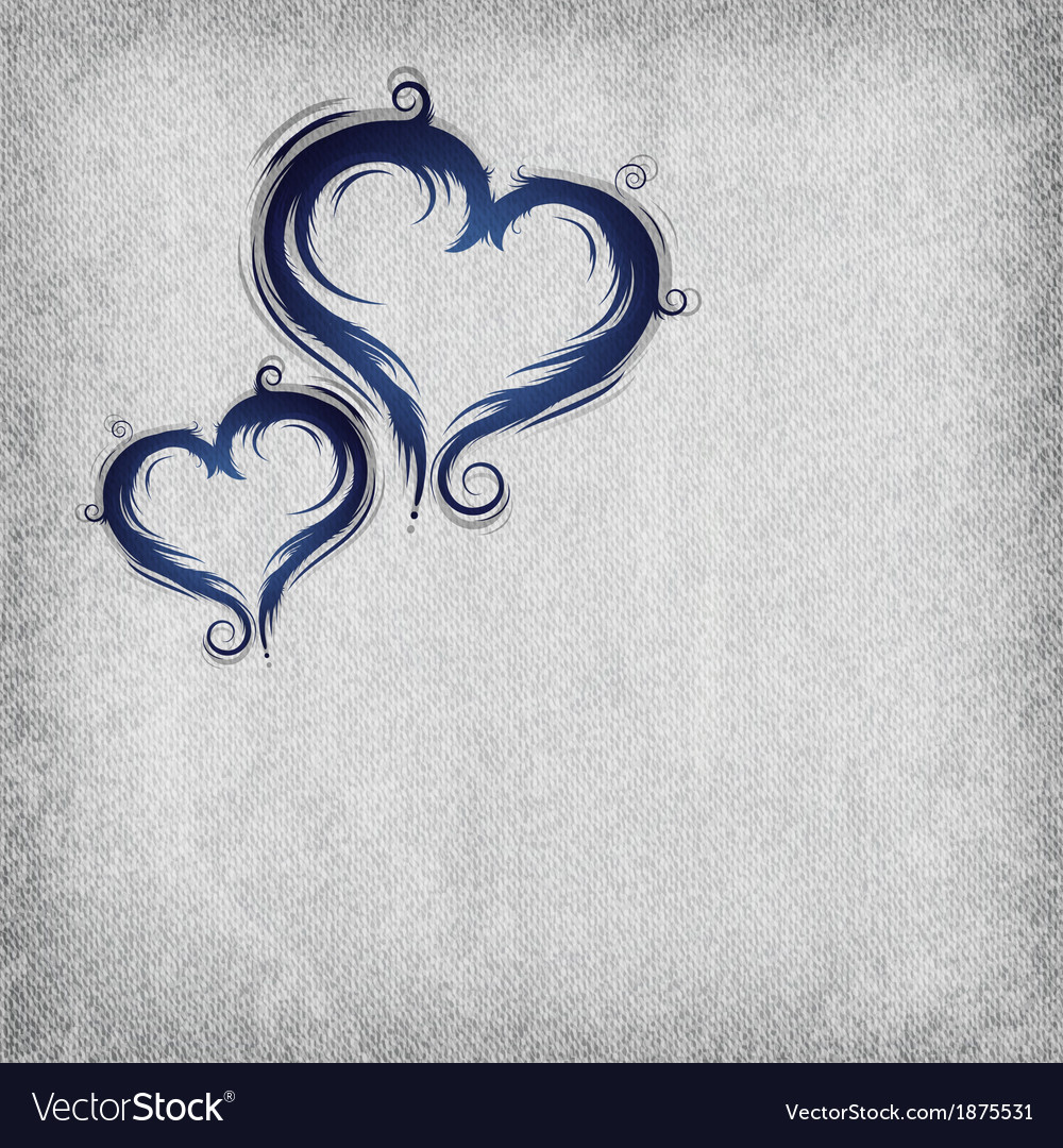 Heart baroque blue background vector | Price: 1 Credit (USD $1)