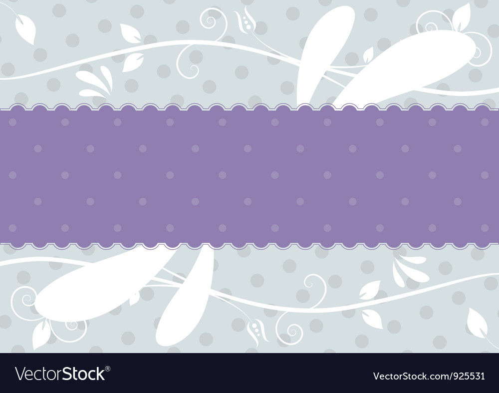 Label with floral background vector | Price: 1 Credit (USD $1)