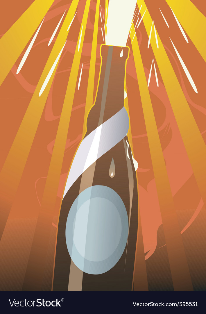 Liquor bottle vector | Price: 1 Credit (USD $1)