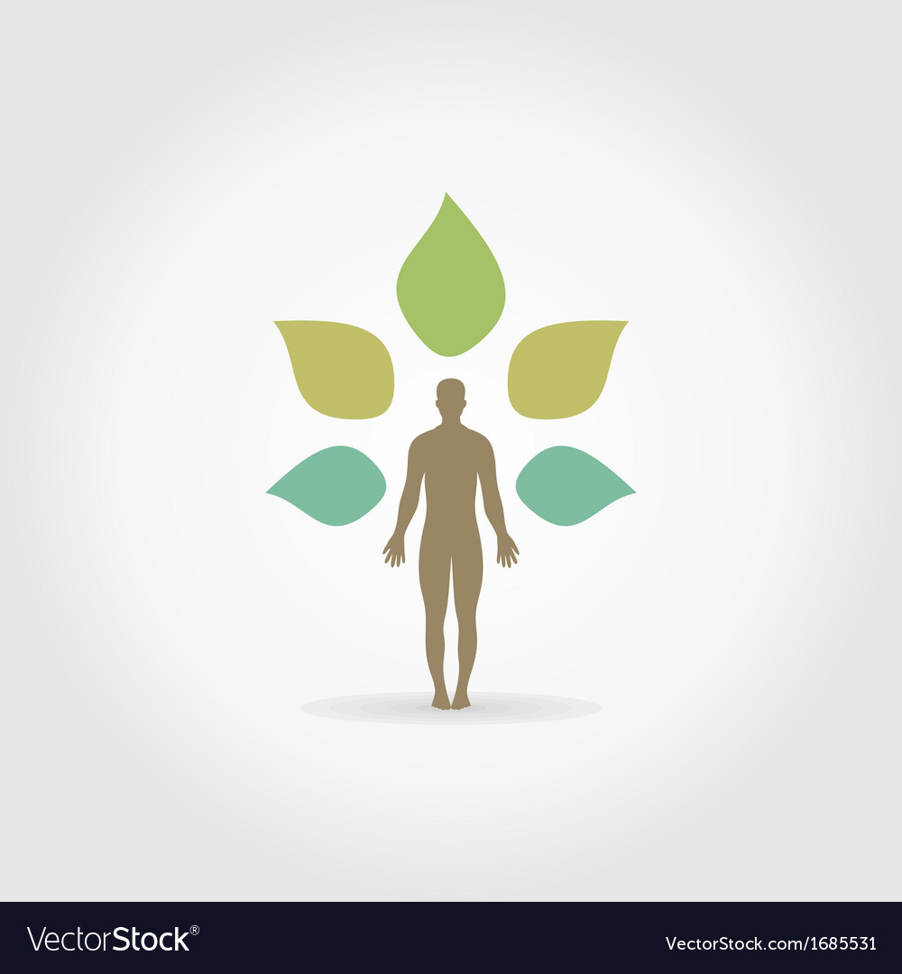 Person a plant vector | Price: 1 Credit (USD $1)