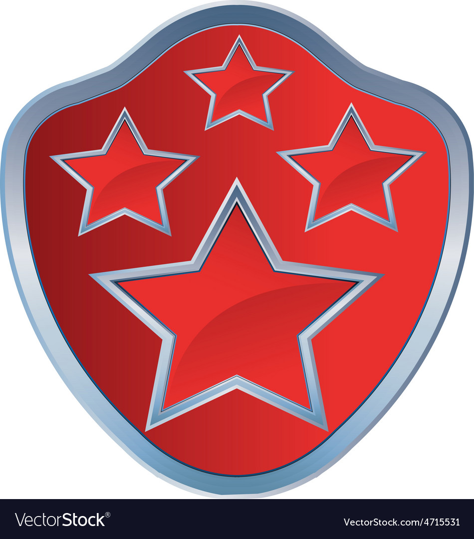 Red star amblem 4 resize vector | Price: 1 Credit (USD $1)