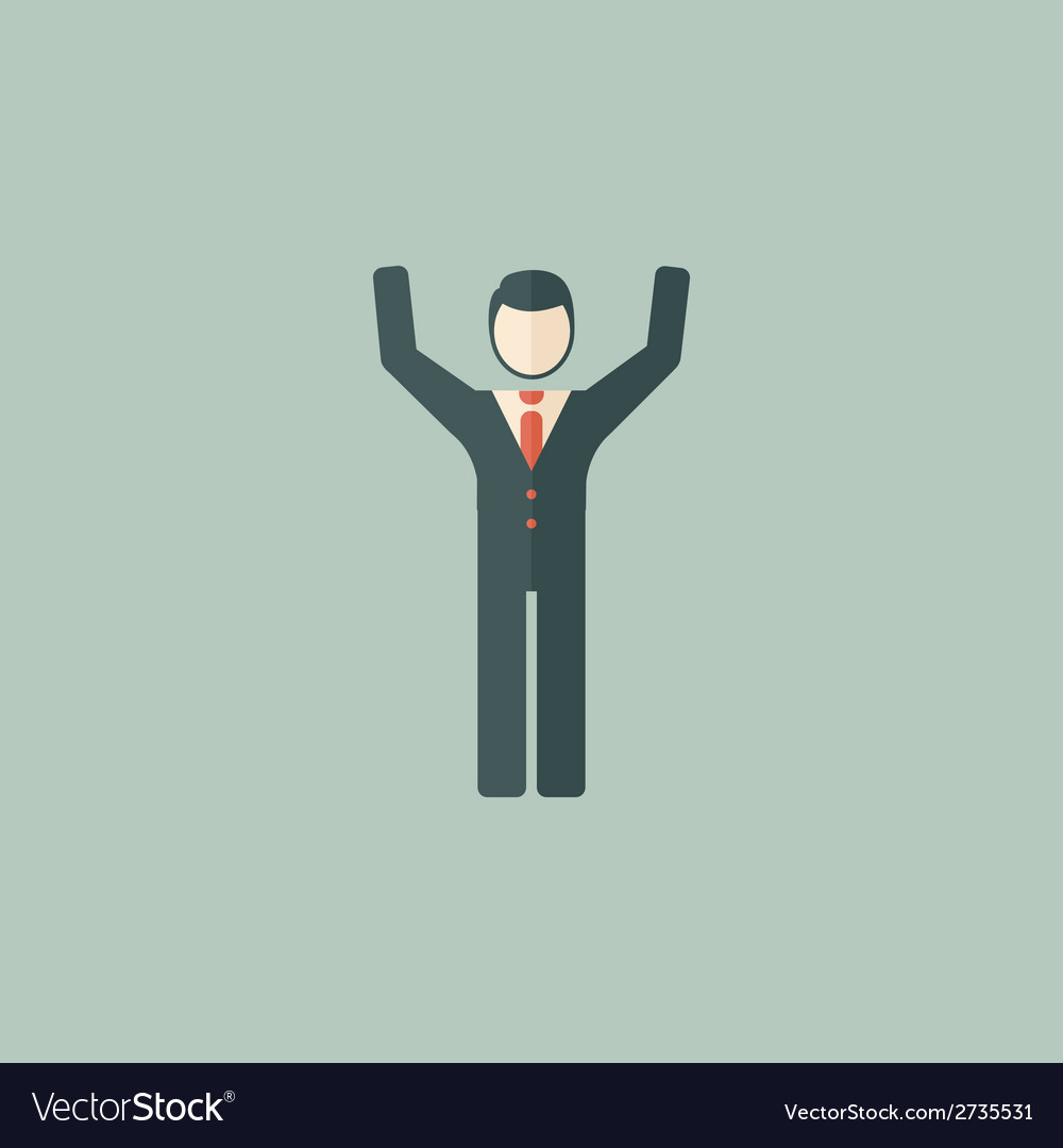 Success flat icon vector | Price: 1 Credit (USD $1)