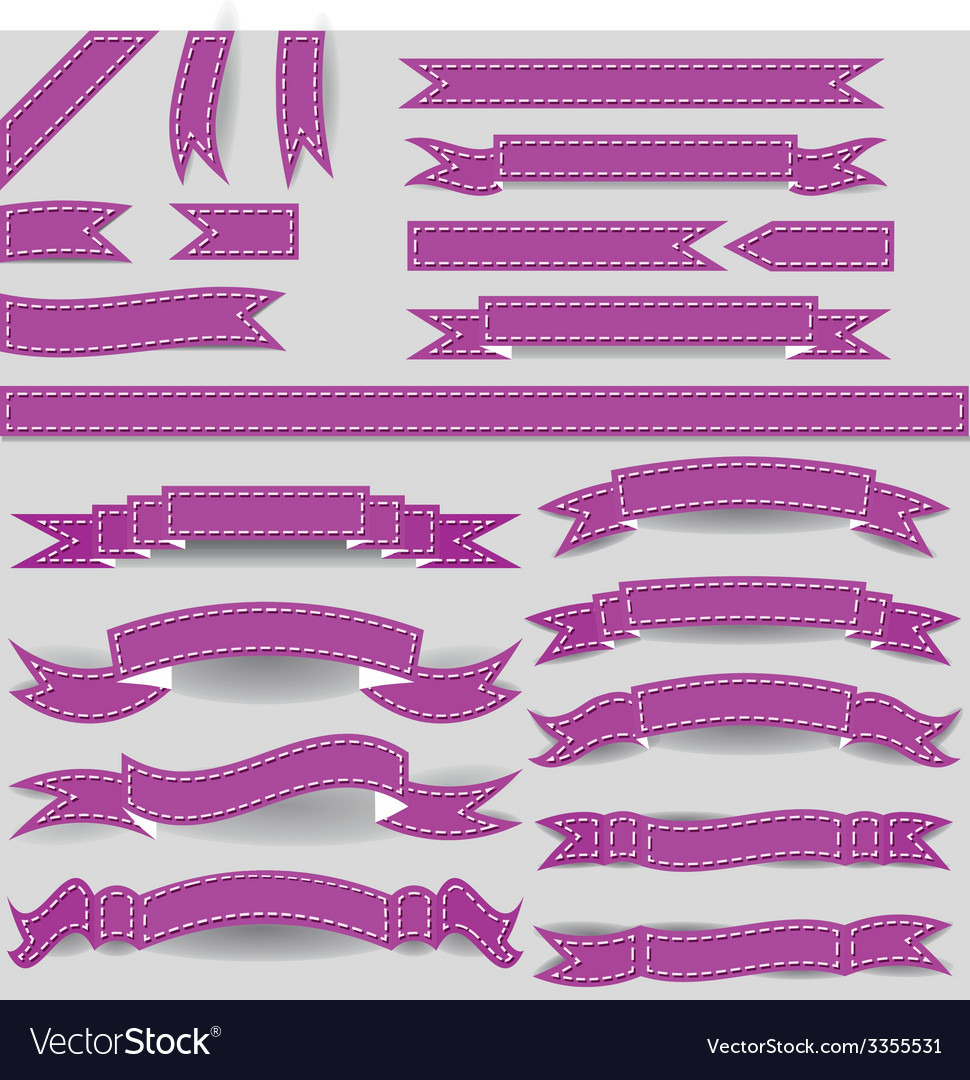 Violet ribbons vector | Price: 1 Credit (USD $1)