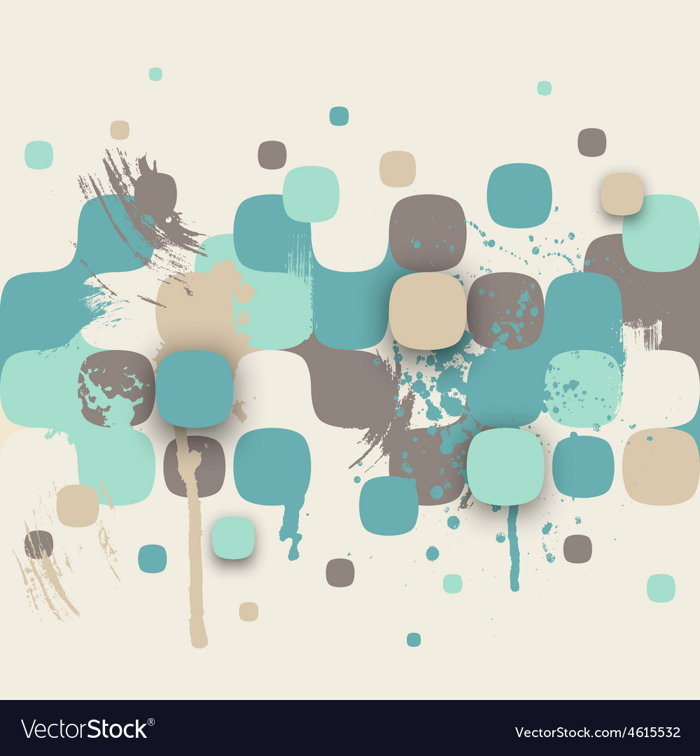 Abstract texture with squares and paint splashes vector | Price: 1 Credit (USD $1)
