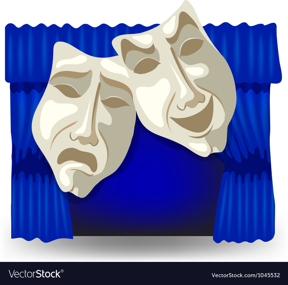 Allegory masks vector | Price: 1 Credit (USD $1)