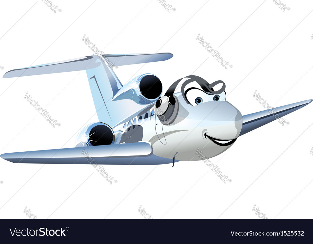 Cartoon civil utility airplane vector | Price: 1 Credit (USD $1)