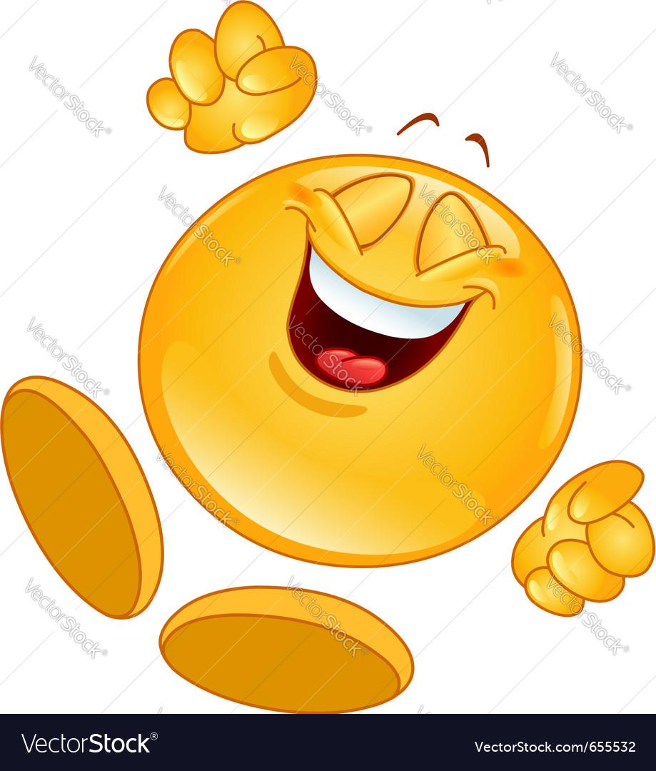 Cheerful emoticon vector | Price: 1 Credit (USD $1)