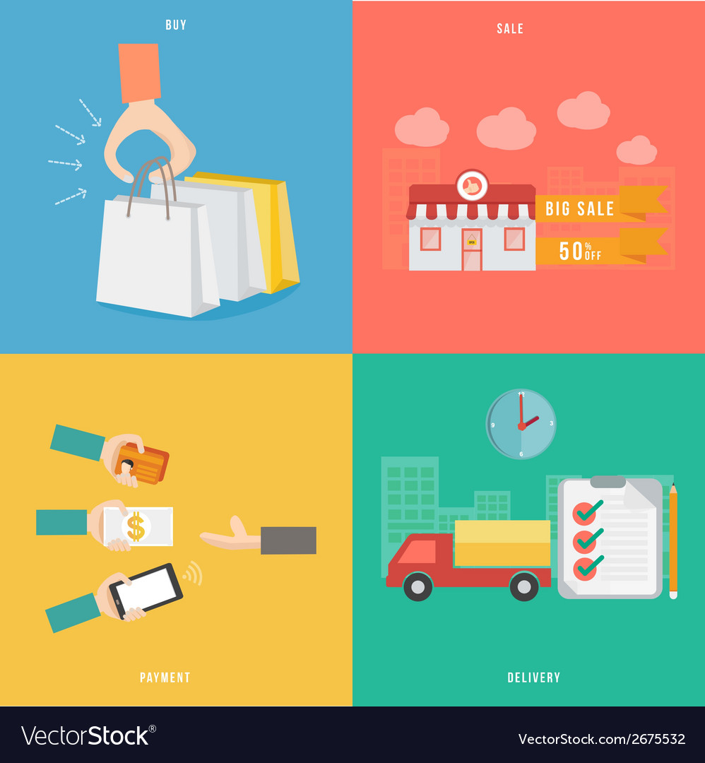 Element of buy sale payment and delivery concept vector | Price: 1 Credit (USD $1)