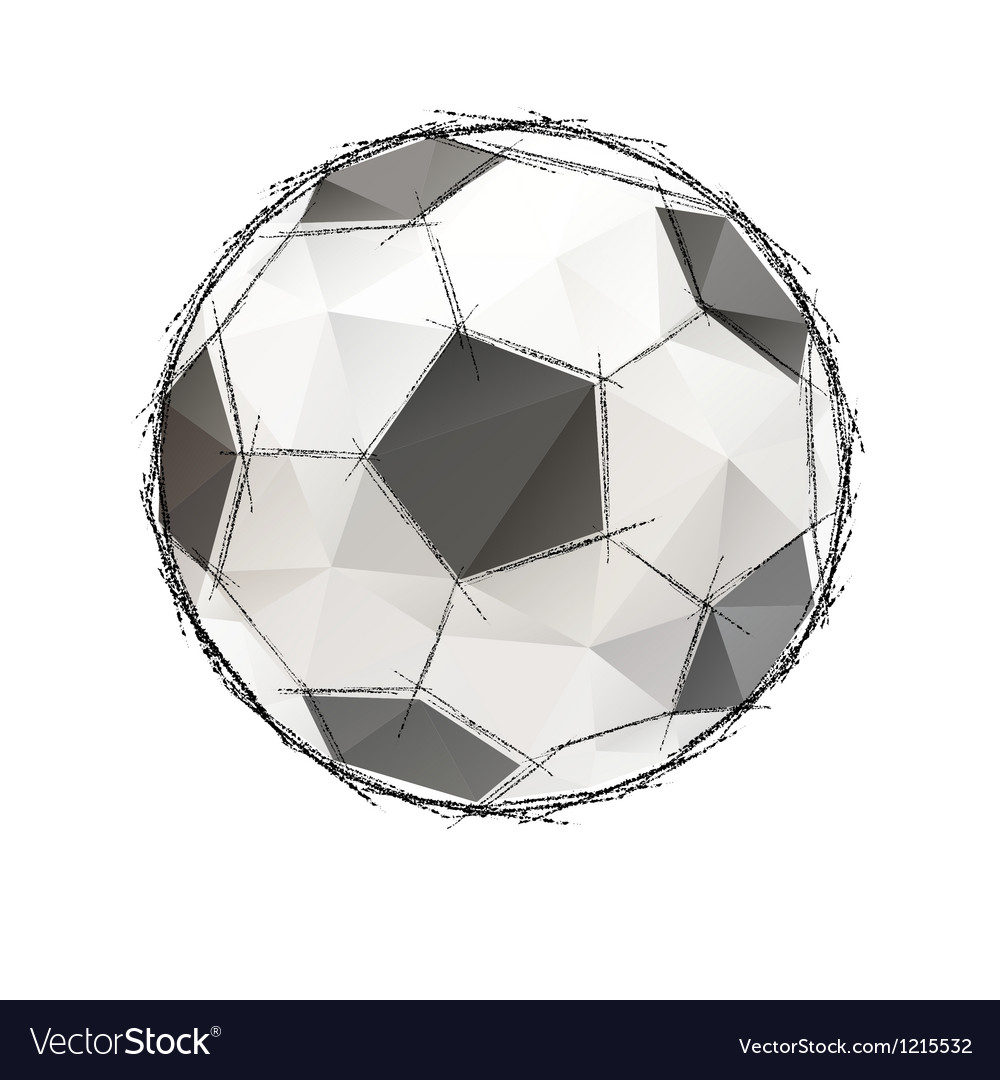 Football soccer game ball isolated on a white vector | Price: 1 Credit (USD $1)