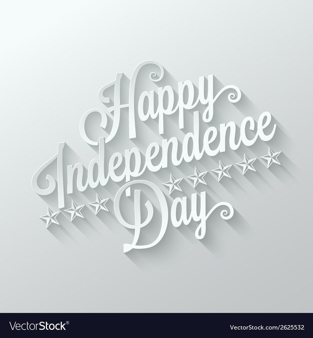 Independence day cut paper lettering background vector | Price: 1 Credit (USD $1)