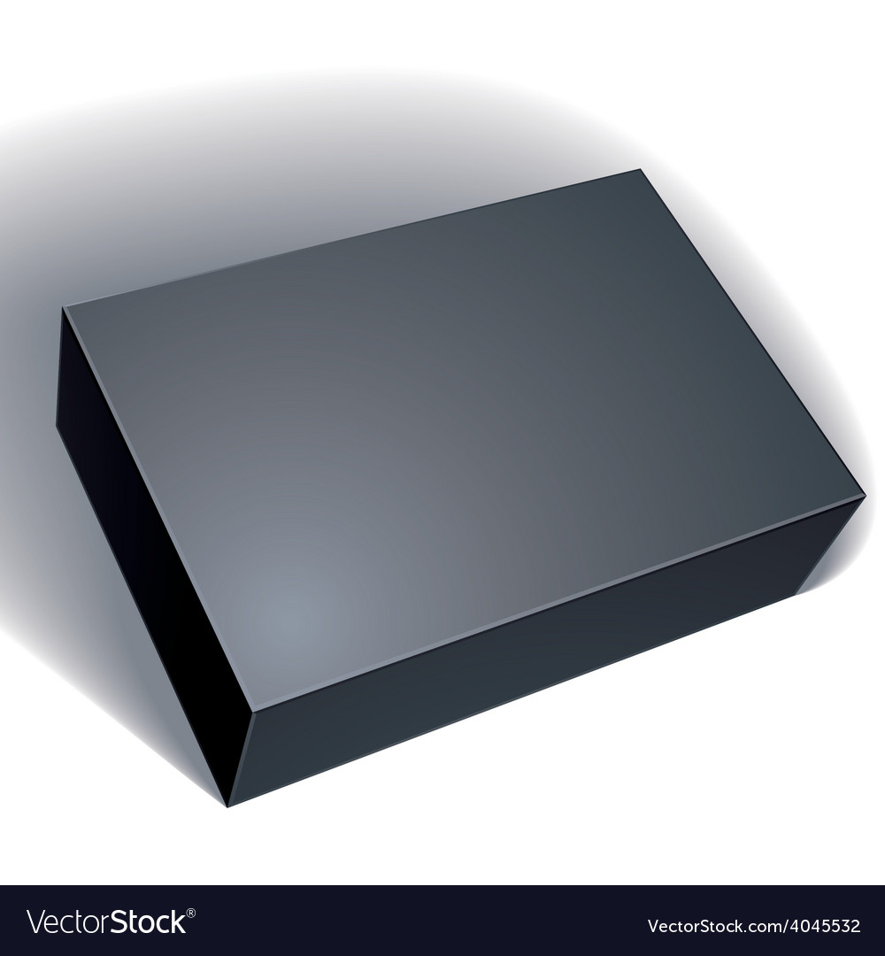 Package black box design isolated on white vector | Price: 1 Credit (USD $1)