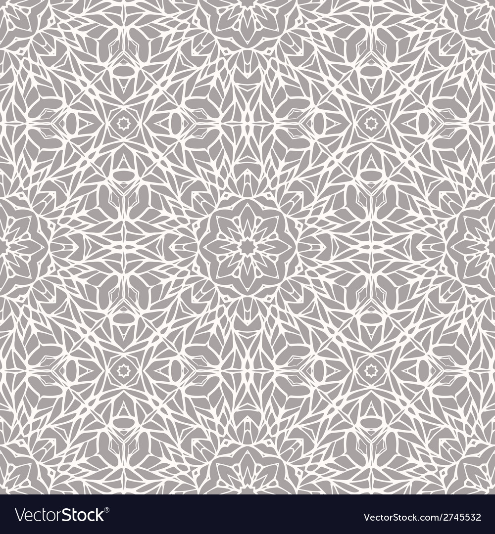 Seamless pattern with ethnic lace ornament vector   Price: 1 Credit (USD $1)
