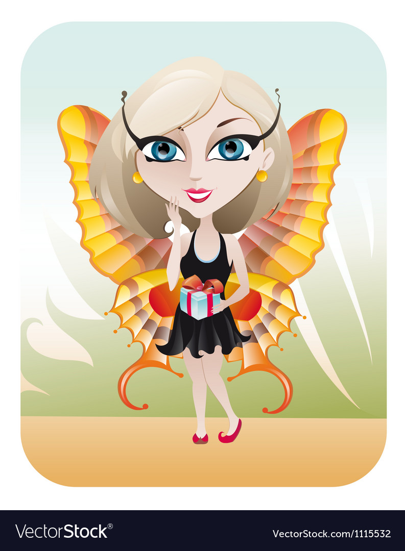 Spring fairy vector | Price: 3 Credit (USD $3)
