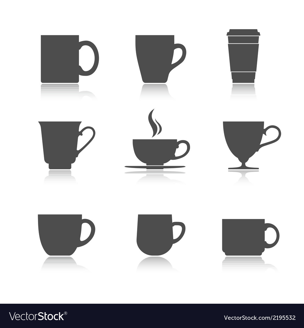 Tea cup set vector | Price: 1 Credit (USD $1)