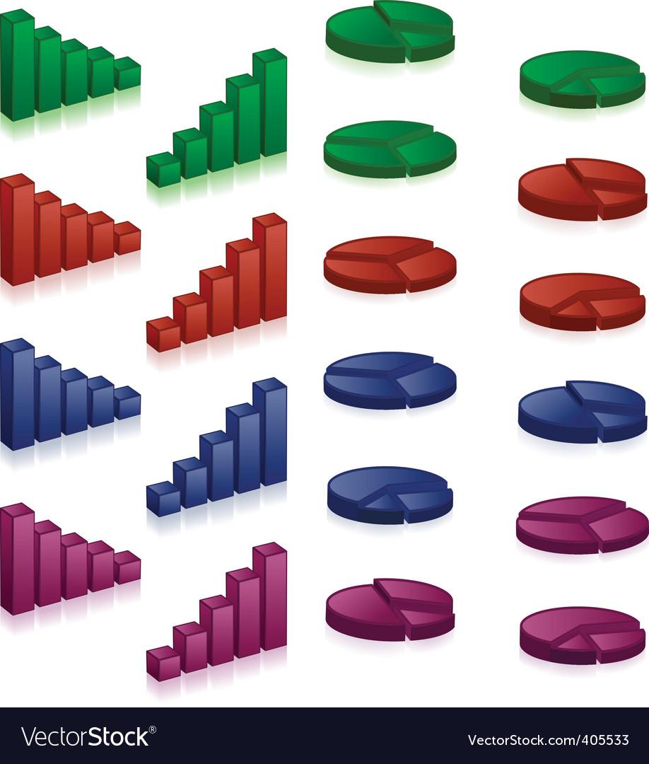 3d charts vector | Price: 1 Credit (USD $1)