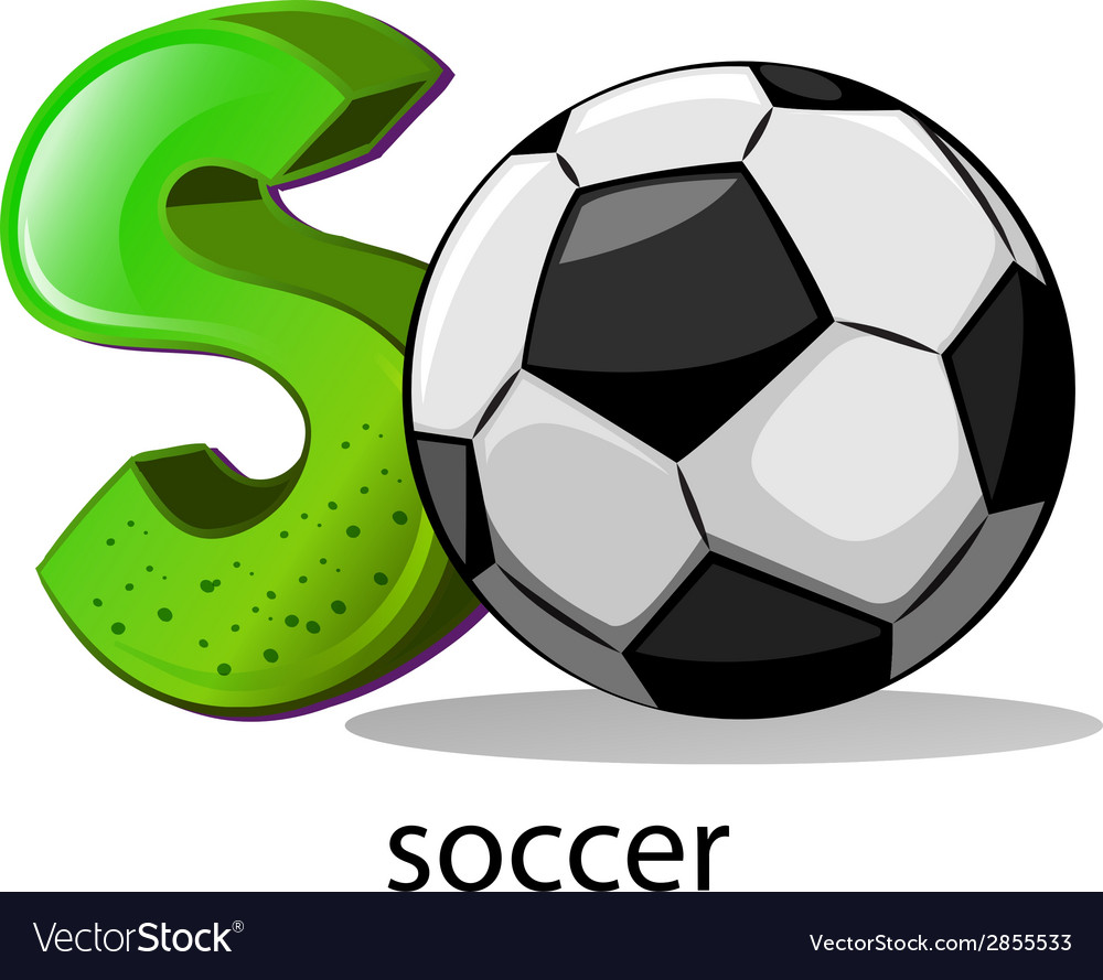 A letter s for soccer vector | Price: 1 Credit (USD $1)