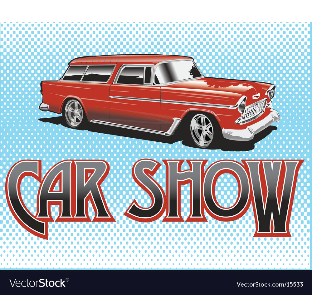 Car show vector | Price: 3 Credit (USD $3)