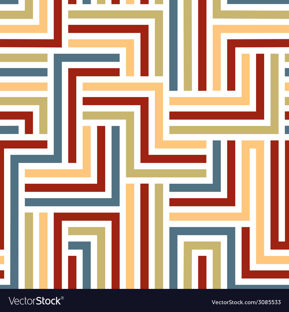 Colorful maze seamless pattern vector | Price: 1 Credit (USD $1)