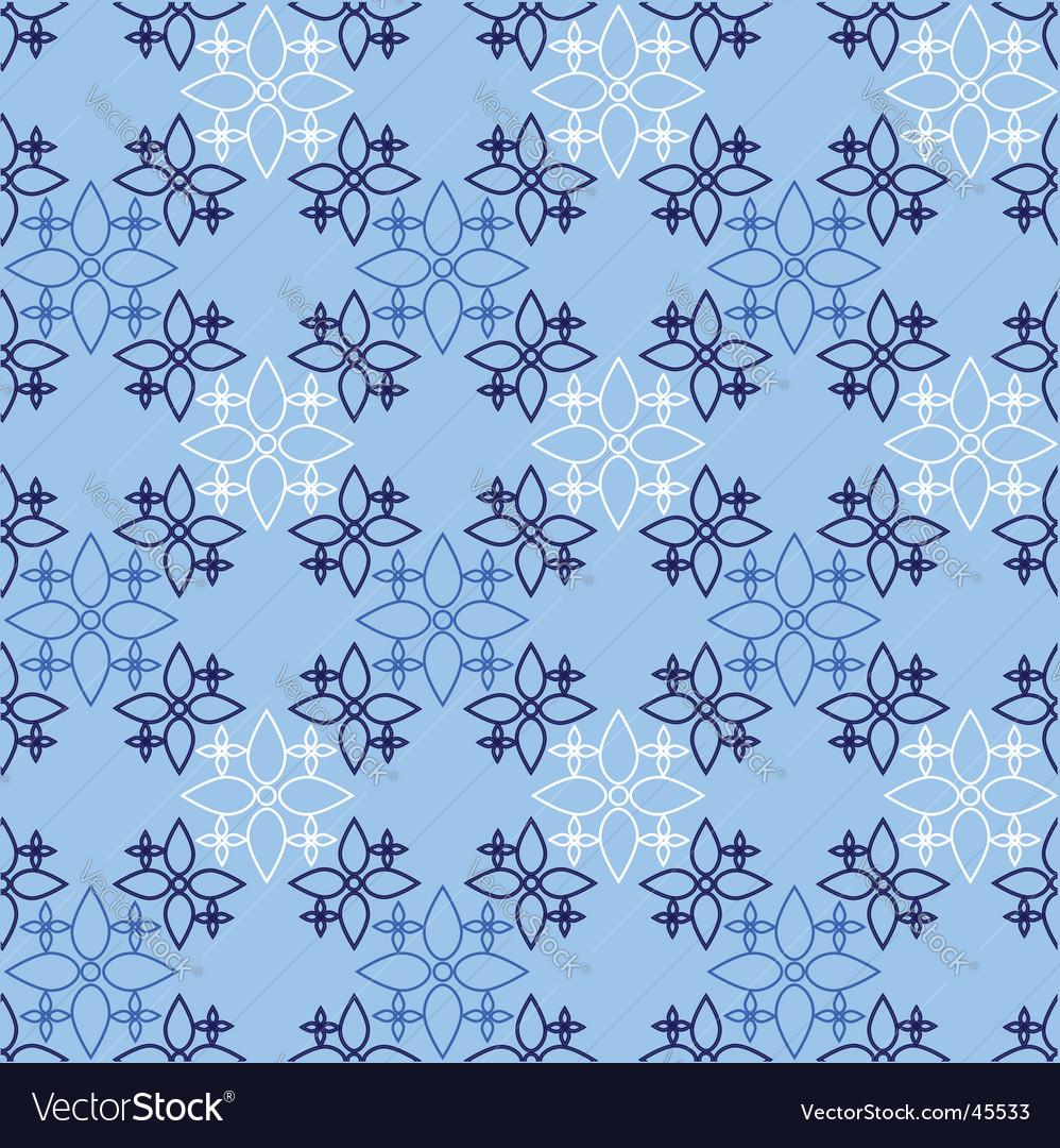 Decorative blue pattern vector | Price: 1 Credit (USD $1)