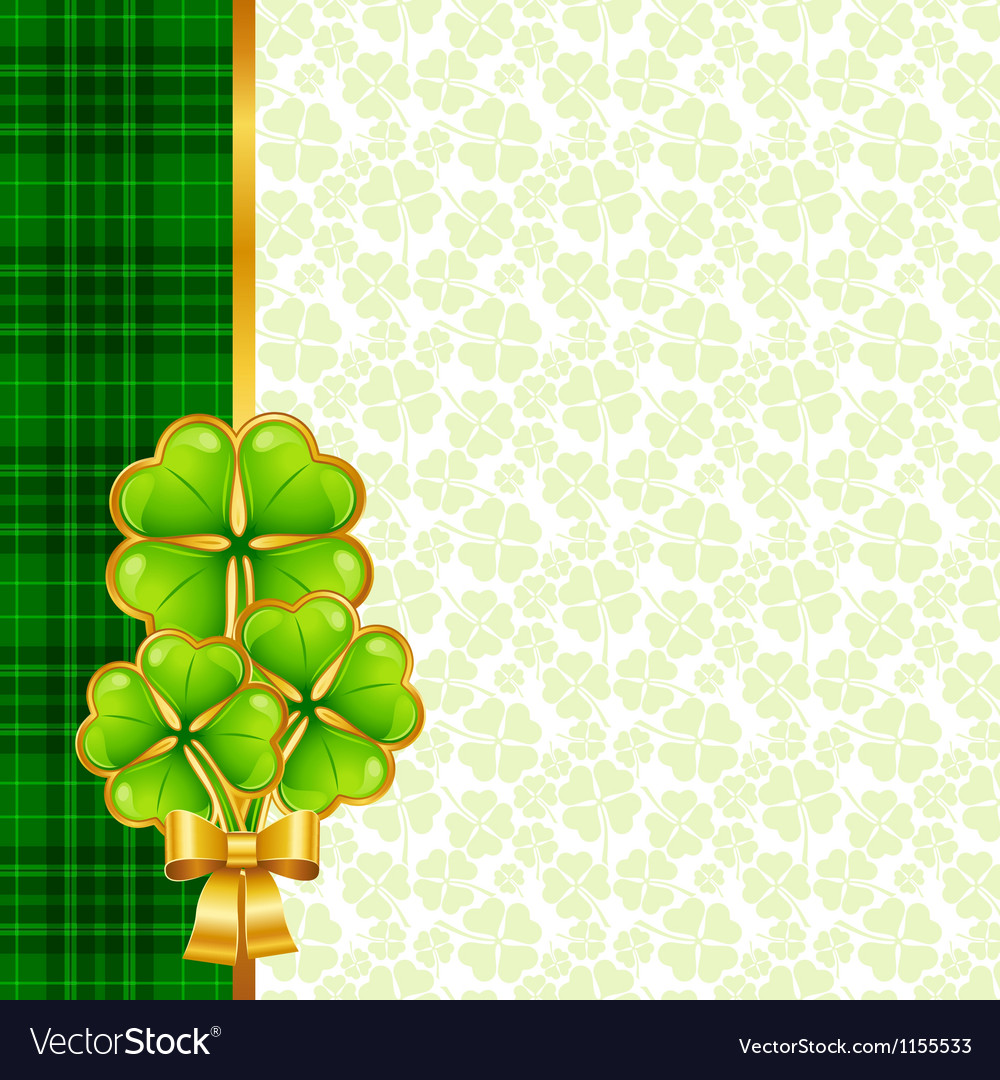Greeting card for saint patricks day vector | Price: 1 Credit (USD $1)