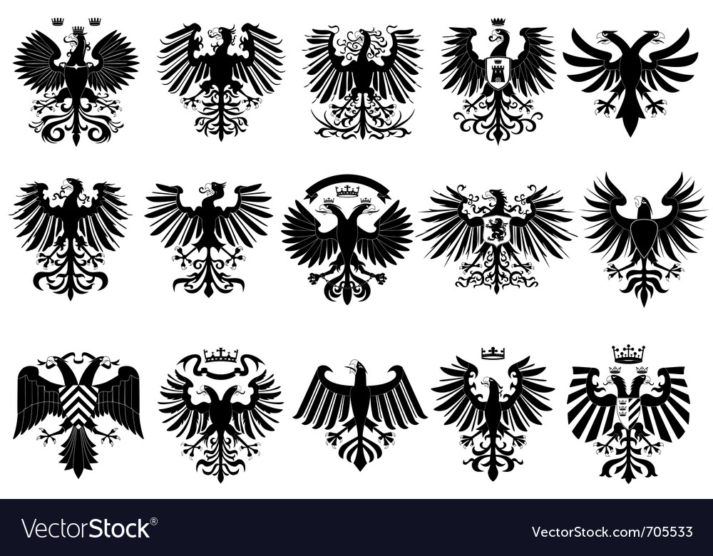 Heraldic eagles vector | Price: 1 Credit (USD $1)