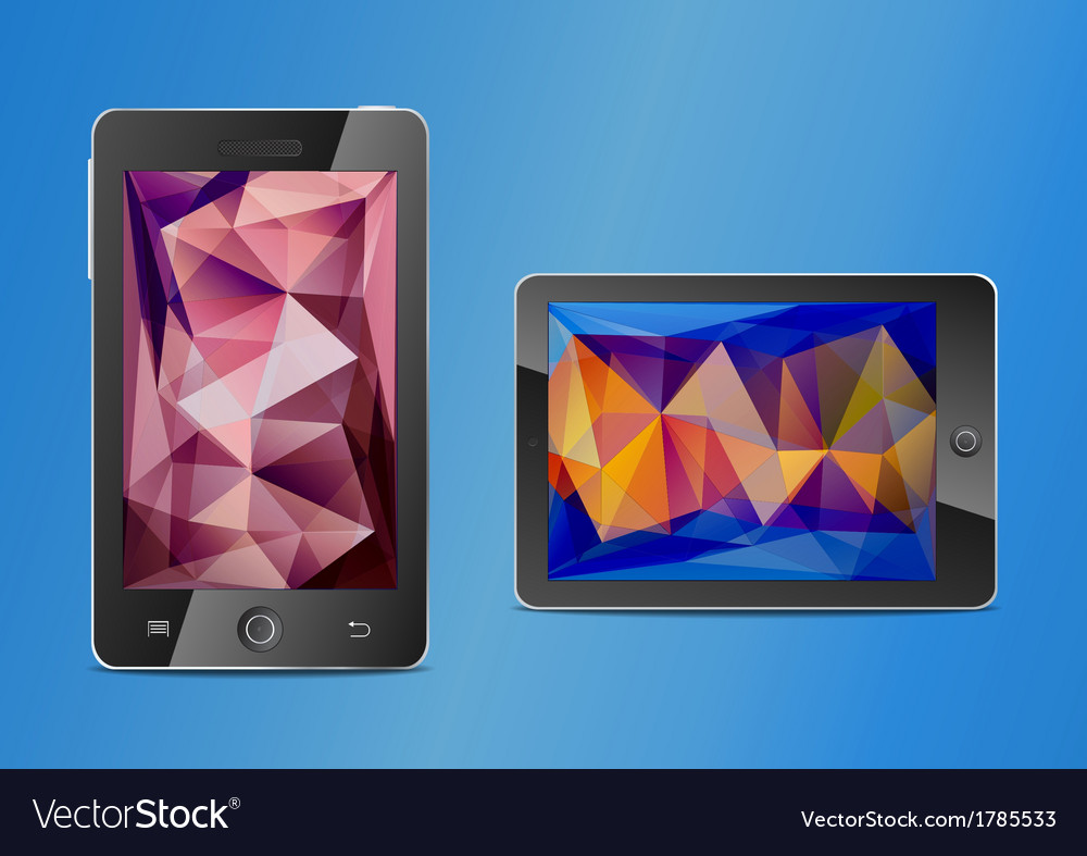 Mobile phone and touchpad vector | Price: 1 Credit (USD $1)