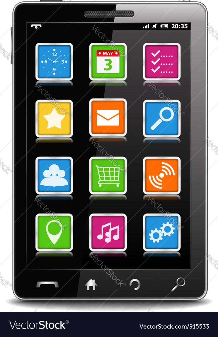 Modern black mobile phone vector | Price: 1 Credit (USD $1)