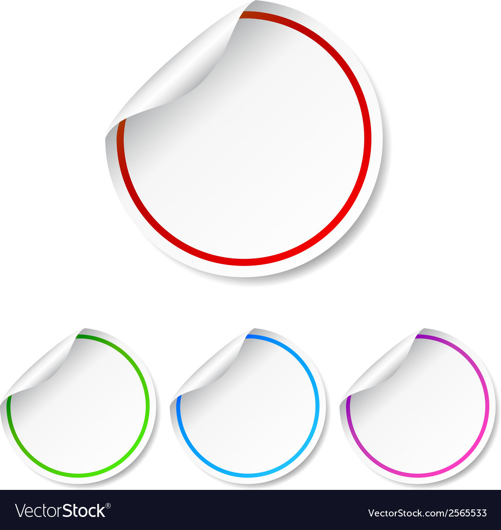 Round blank label stickers set vector | Price: 1 Credit (USD $1)