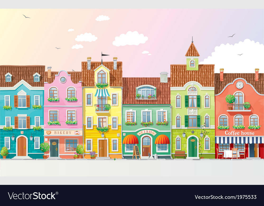 Summer cityscape 3 vector | Price: 1 Credit (USD $1)