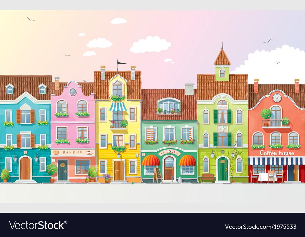 Summer cityscape 3 vector