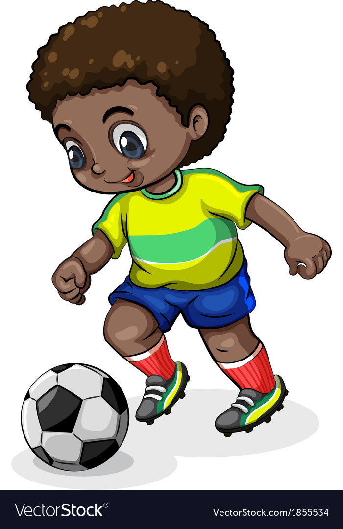 A black soccer player vector | Price: 1 Credit (USD $1)
