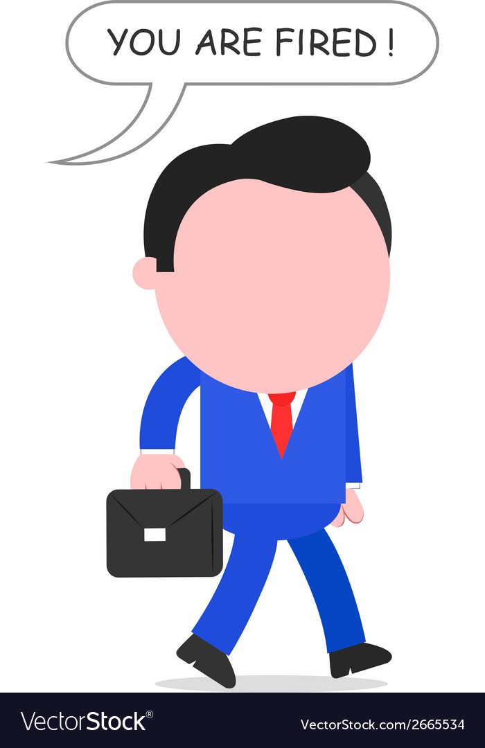 Boss firing businessman vector | Price: 1 Credit (USD $1)