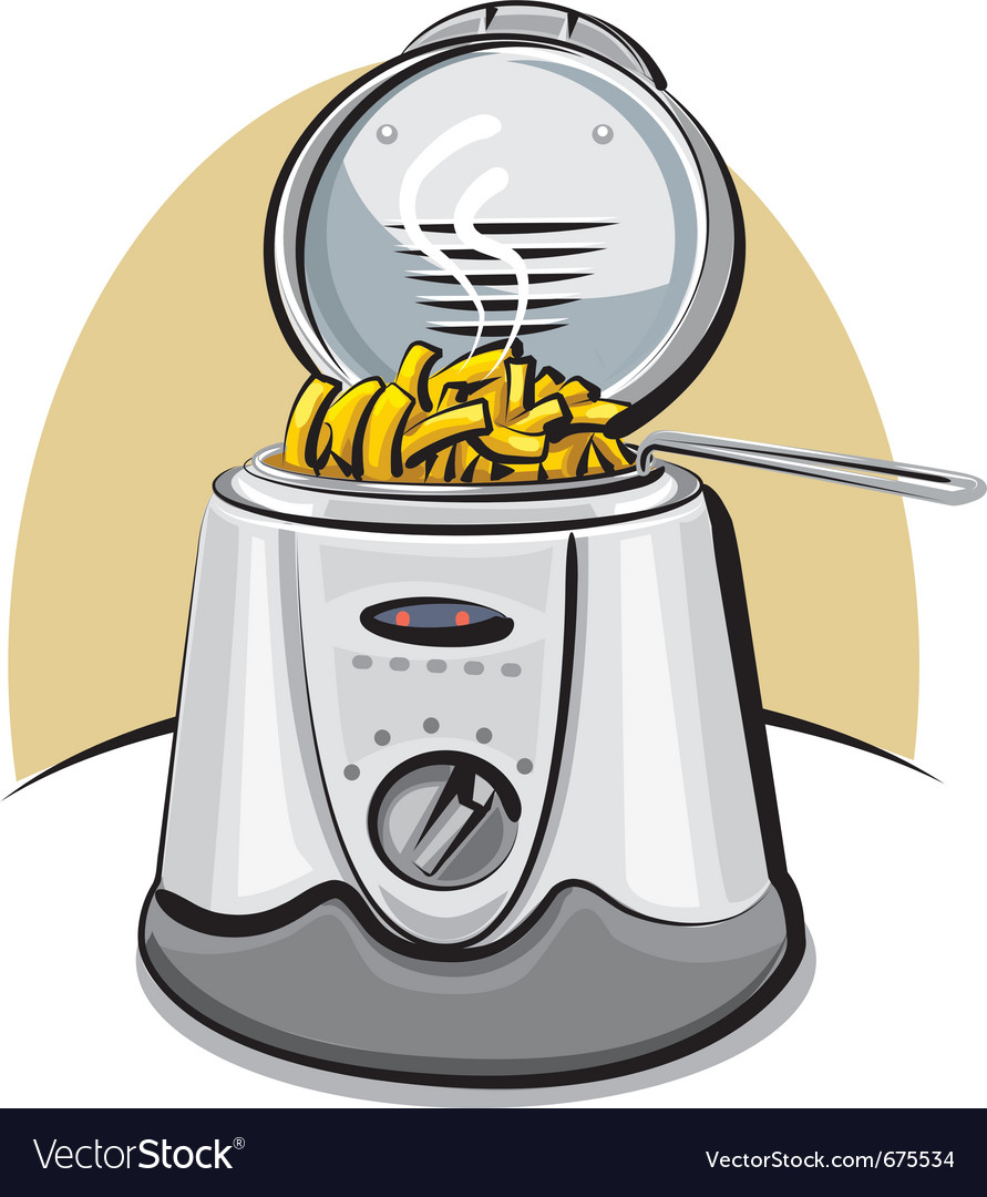 Deep fryer and chips vector | Price: 3 Credit (USD $3)