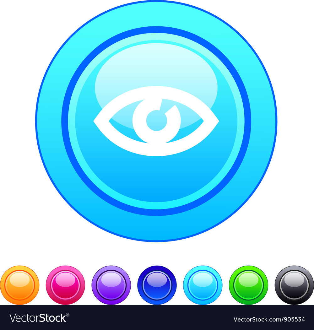 Eye circle button vector | Price: 1 Credit (USD $1)