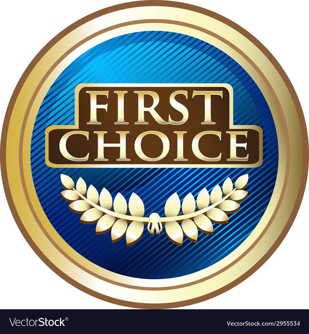 First choice emblem vector | Price: 1 Credit (USD $1)